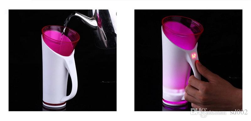 Colourful Magic Cups Touch And Sound Sensitive Water Temperature Display Time Reminder Smart Cup Intelligent Induction Waters Bottle 49tc C
