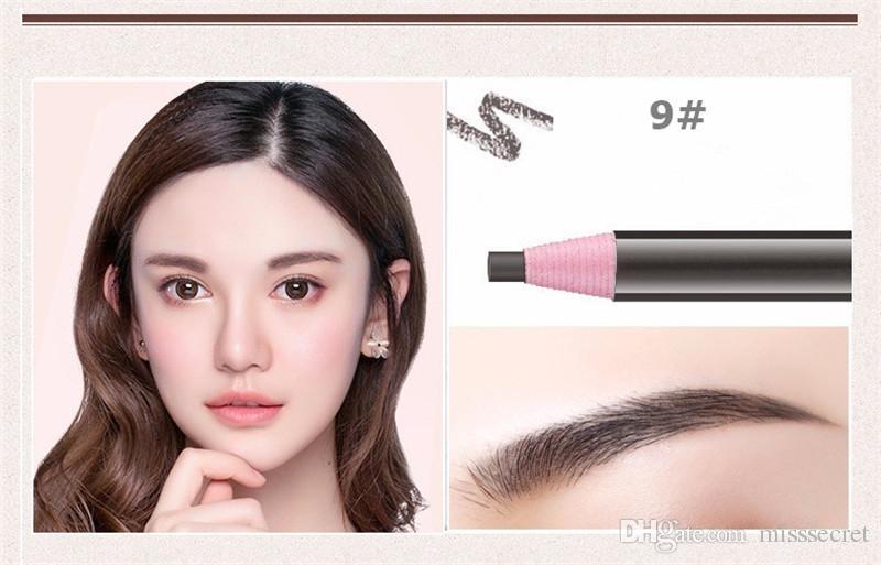 Yüksek Kaliteli Rulo Kağıt Kaş Kalemleri Su Geçirmez Kaş Artırıcı Yumuşak Konu Kalem Kozmetik Göz Makyaj Güzellik Aracı