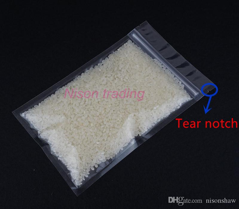 14x20cm /pack high lucency plastic ziplock bag-all clear food grade plastic pouch, potato chip/cookie package sachet