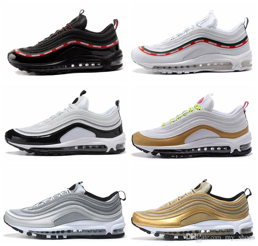 e1f0f8da48 Cheap New 97 OG QS Tripel White Black Metallic Gold Silver Bullet PRM WHITE  3M Premium Mens Running Shoes for Men Women Sneakers 3m Shoes for 97 Ultra  Shoes ...