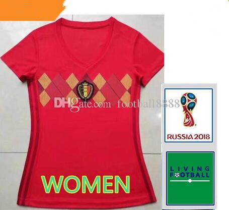 Women Top 2018 World Cup Belgium Soccer Jersey 2018 Home LUKAKU E ... 1c57b8583