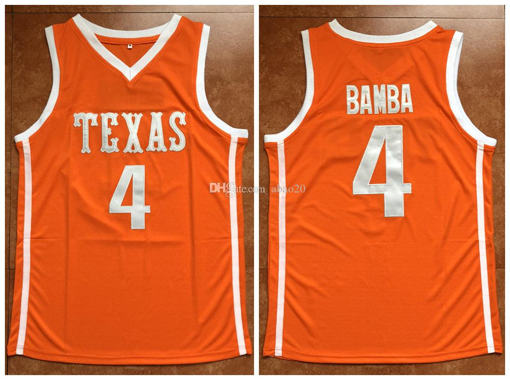best website 84b55 cc644 #4 Mohamed Bamba Texas Longhorns college Retro Basketball Jersey Mens  Embroidery Stitched Custom any Number and name Jerseys