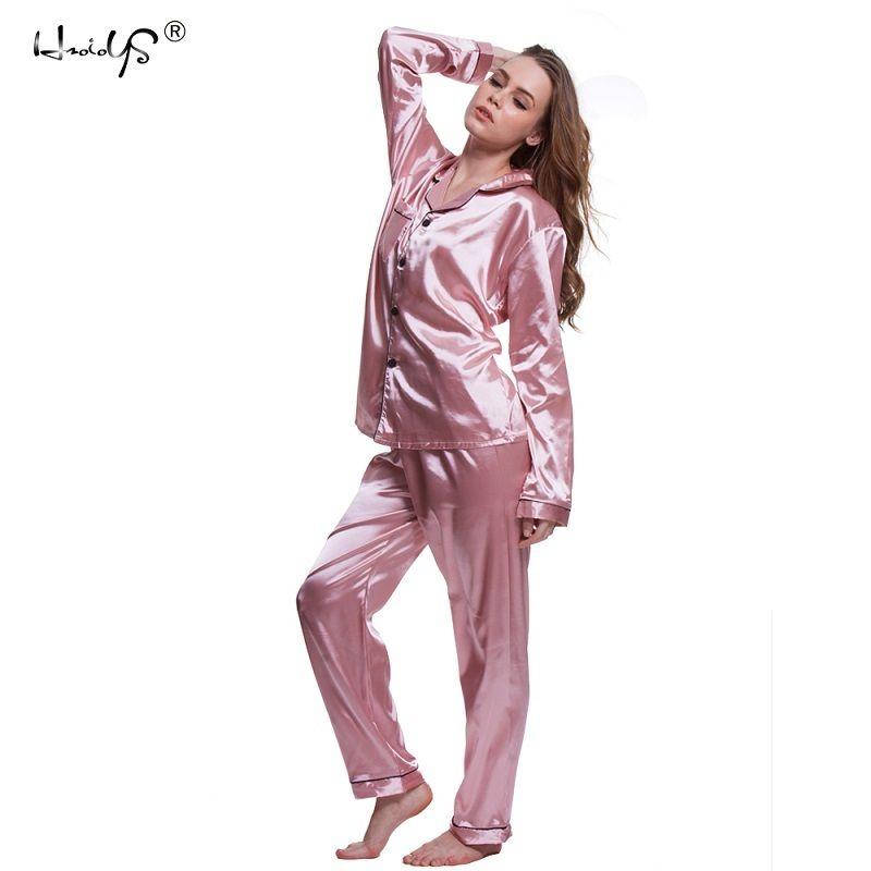 befdd2f85 Pijama Infantil Masculino Plus Size 5XL Conjuntos De Pijama 2018 Mulheres  Homewear Sexy Cueca Pijama De Cetim De Seda Manga Longa Femme Com Decote Em  V ...