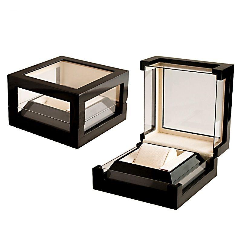 Luxury Presentation Gift Box Case Wooden Watch Display Case Box Jewelry Storage Organizer Windowed Case Woman's Men Watch Storage Box