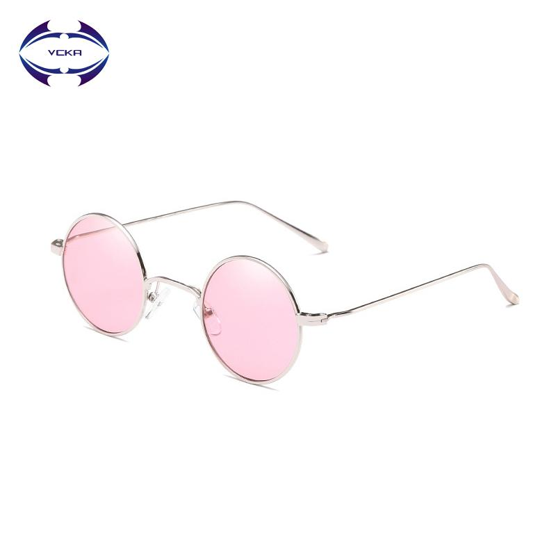 deecc4b5681 VCKA Vintage Round Sunglasses Women Ocean Color Lens Mirror Female Eyewear  Brand Design Metal Frame Circle Glasses Oculos UV400 Prescription Sunglasses  ...