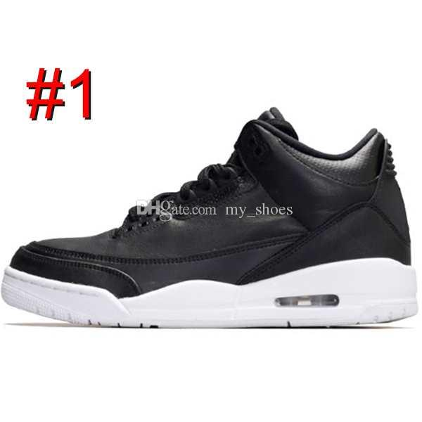 3 black cement 3s white cement 3 OG True Blue 3 Men Basketball Shoes 3s wolf grey Sports sneakers mens trainer