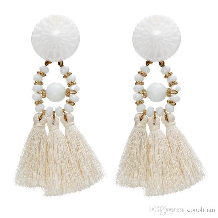 1e00f688c 2019 2018 Women Boho Style Drop Dangle Fringe Earring Vintage Ethnic  Statement Tassel Earrings Fashion Jewelry Birthday Christmas Gift From  Cooolman, ...