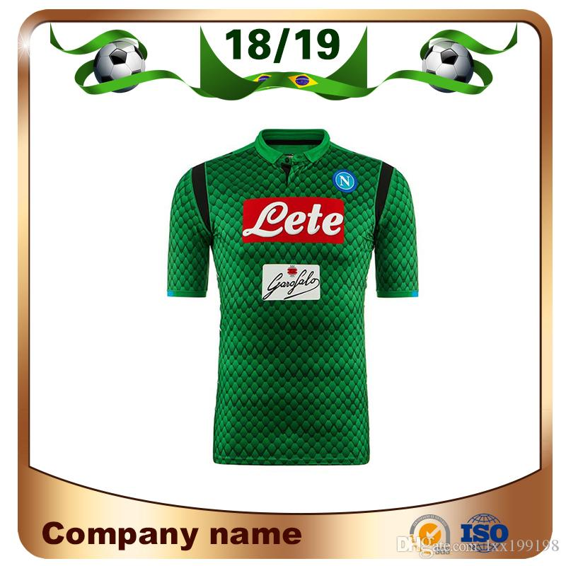 3515e99805 Compre 18 19 Napoli Goleiro Camisas De Futebol 2019 Napoli Verde   1 Meret  Camisa De Futebol HAMSIK MERTENS INSIGNE Uniforme De Futebol Vendas De  Lxx199198