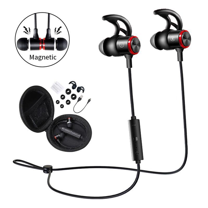 26a6d33e90f Bluetooth Headphones Magnetic Sport Wireless Earbuds Earphones Noise  Canceling Earphones Sweatproof Headset With Mic For Jogging Running Gym  Best Headphones ...