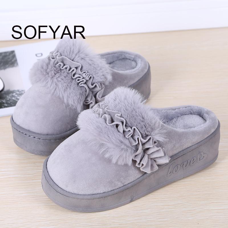 Zapatillas de algodón grueso para el hogar las mujeres mantienen caliente el talón de algodón fregona cálida casa dormitorio zapatos hermosos hermosos zapatos de flores de felpa