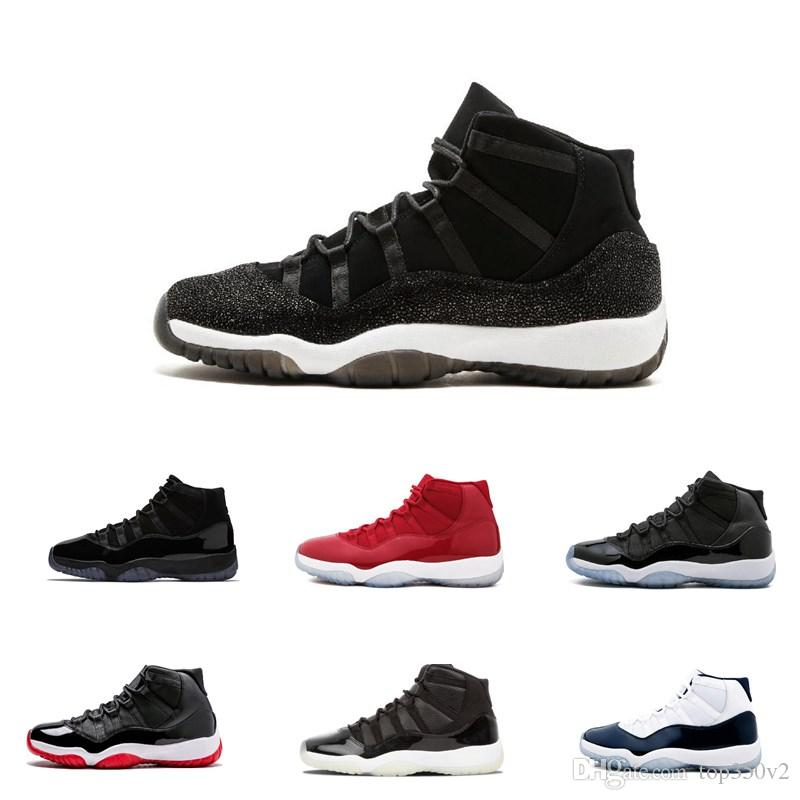 f0492b92266e 2019 Cap And Gown 11 XI 11s PRM Heiress Black Stingray Gym Red Chicago  Midnight Navy Space Jams Men Basketball Shoes Sports Sneaker From Top350v2