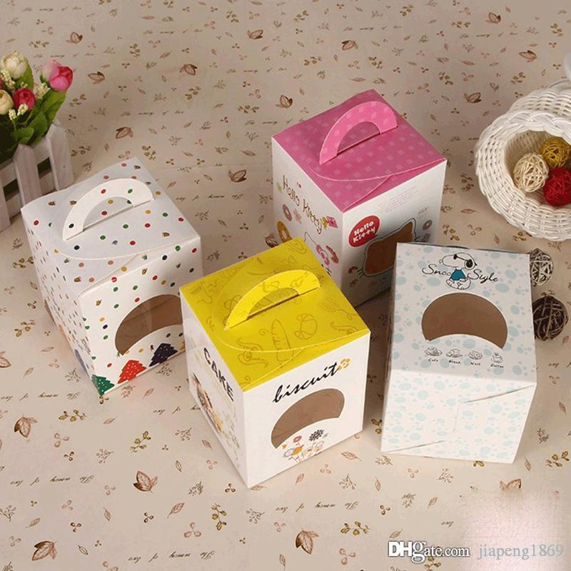 Square Candy Box Paper Craft Chocolate Boxes Packaging For Gifting Biscuit Cake Cookie Handmade Bakery Alice In Wonderland Party Supplies