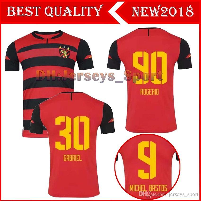 MARLONE 18 19 Sport Recife Jersey Home Rojo Fútbol 2018 2019 DURVAL FELLIPE  BASTOS Club Brasil Camiseta Blanca De Fútbol Visitante MICHEL GABRIEL Por  ... 27ca6ba4137ac