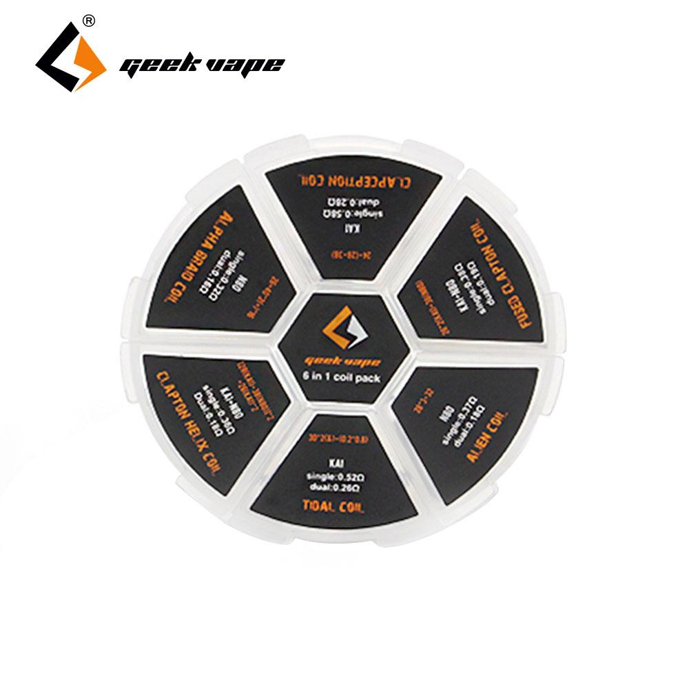 Geekvape 6 In 1 Coil Pack Various Kinds Of Coils Replacement Coil ...