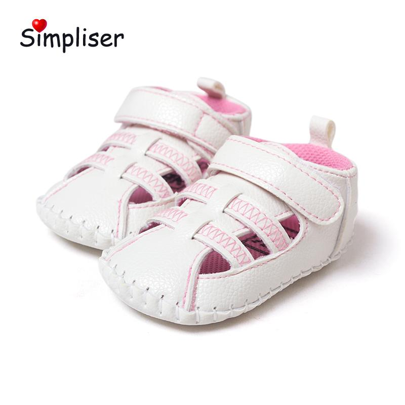 80254b7e91a1f Crib Shoes For Newborn Baby Girls Boys Soft Leather Sandals 0 18 Moths Infant  Toddler Shoes Anti Slip Rubber Sole Walking Cheap Kid Sneakers Kids Cheap  ...