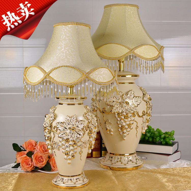 2019 Style Luxury Large Ceramic Table Lamp Retro Decor Bedroom Warm ...