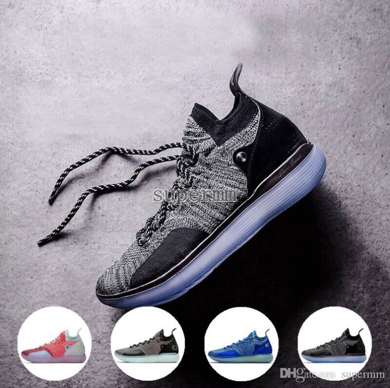548ffcc63c1 2018 New KD 11 Basketball Shoes Black Grey Persian Violet Chlorine Blue Sneakers  Kevin Durant 11s Designer Mens Trainers Chaussures Zapatos
