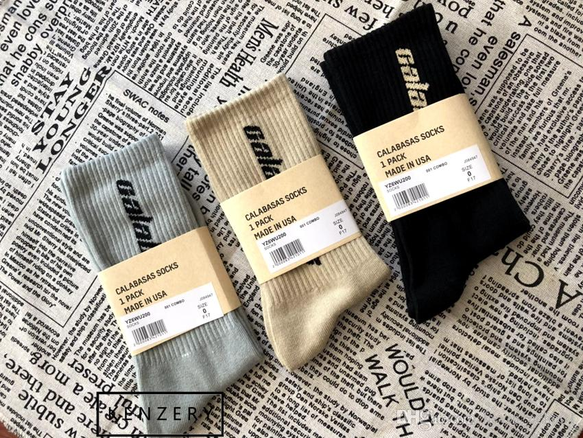 e994c213a 2019 Bursts Of Calabasas Socks Tricolor Fashion Base Basics Color Stockings Men  Sports Basketball Socks Kanye West HFWZ011 From Outdoor 888