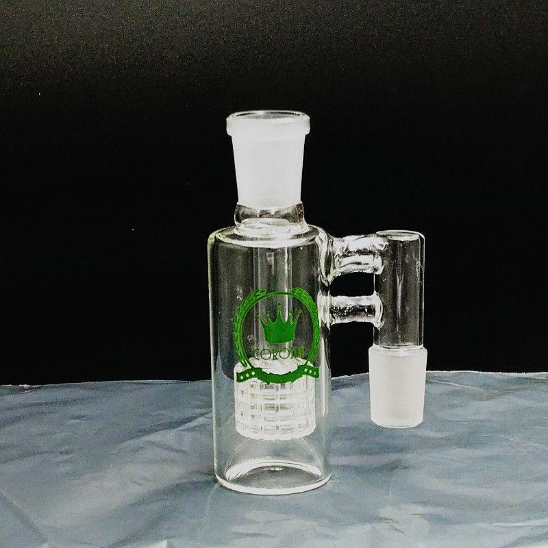 Corona Ash Catcher Degress tubos de vidrio Bong ashcatcher Agua Ceniza colectores pequeños mini bongs DAB ashcatchers plataforma petrolera masculino que fuma accesorios