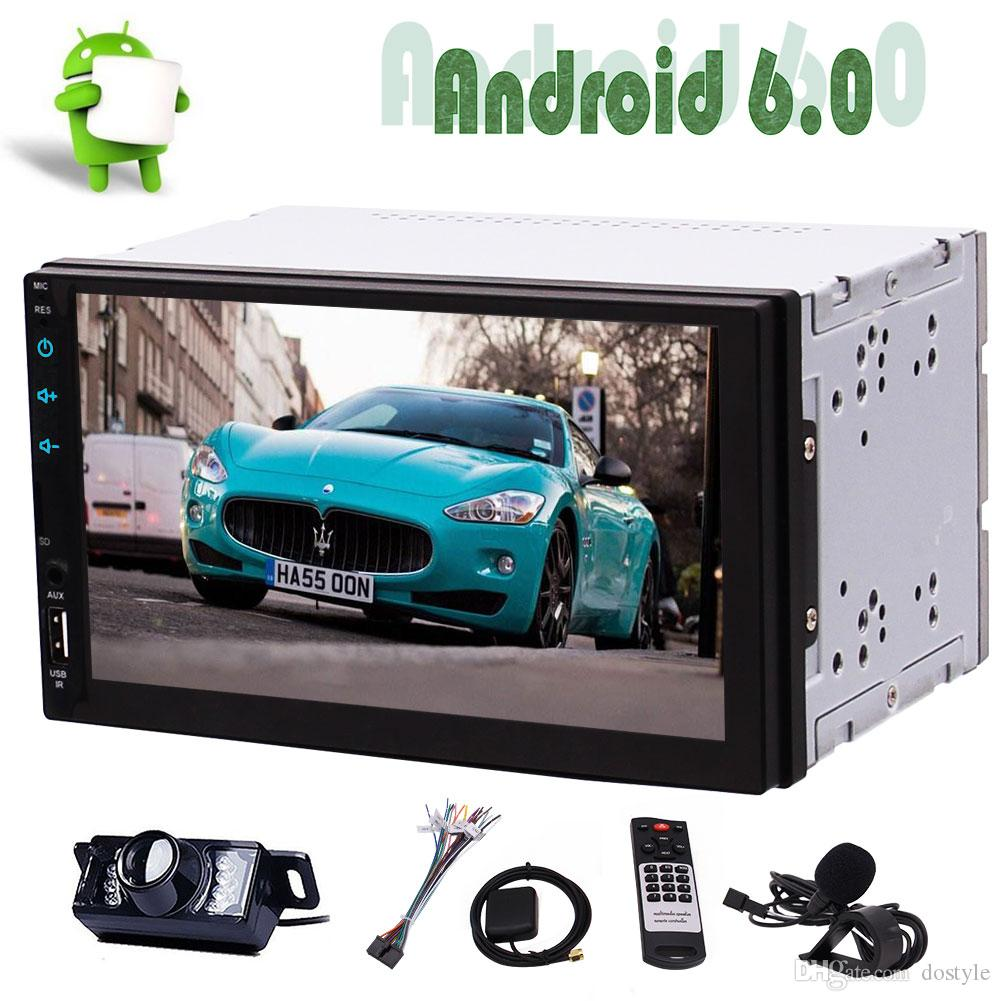 Eincar Car Radio Stereo Audio 7 Android 6 0 Quad-Core Universal Double Din  Car GPS Navigation Head Unit Bluetooth,WiFi Connection(NO DVD)
