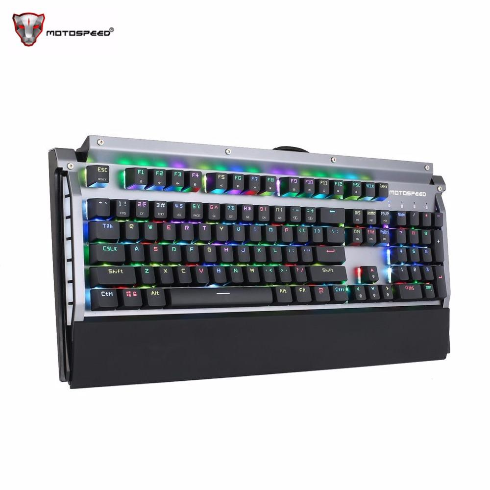 Motospeed 104 Keys Gaming Wired Keyboard 16.8 Million Rgb Backlight ...
