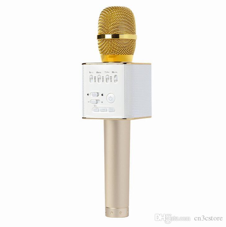 Q9 Handheld Microphone Magic KTV Bluetooth Wireless With Speaker Mic Handheld Loudspeaker Portable Karaoke Player For Smartphone