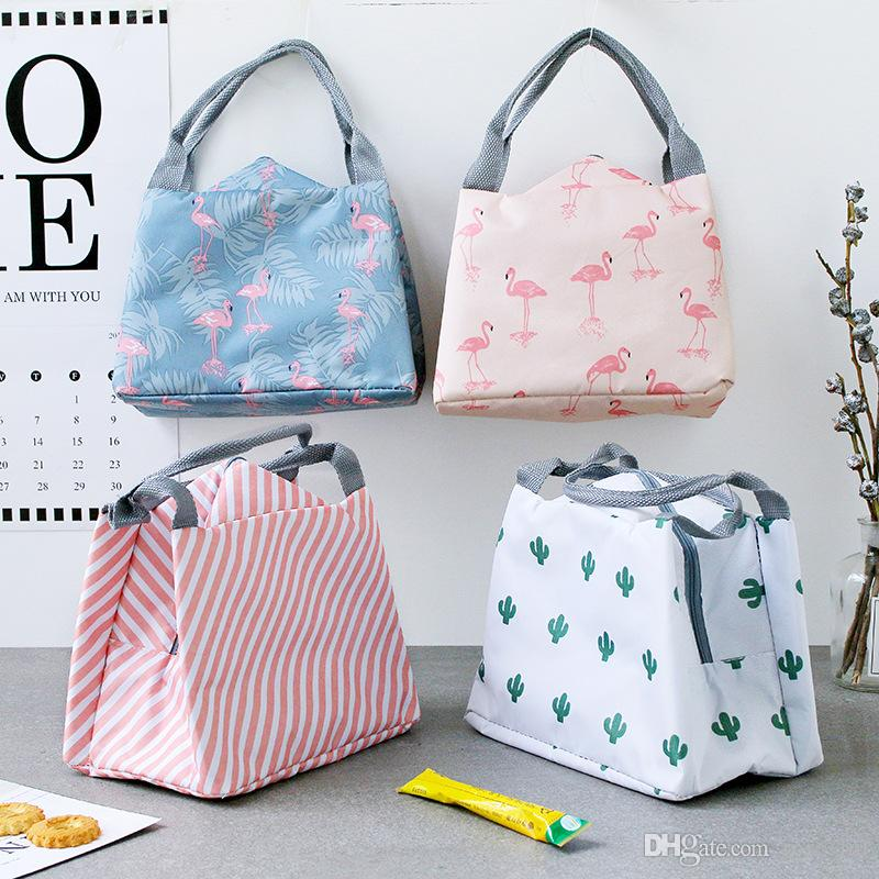 8 Style Portable Flamingo Lunch Bag Cooler Bag Thermal Insulation ... c84a4cc7ea083