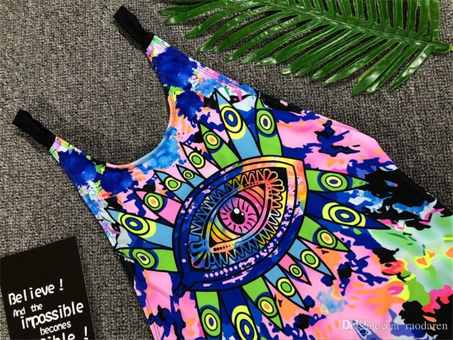 Femmes maillot de bain maillot de bain Sexy Bikini One Piece Set 2018 Push Up maillot de bain Beachwear brésilien rayé taille haute Pad