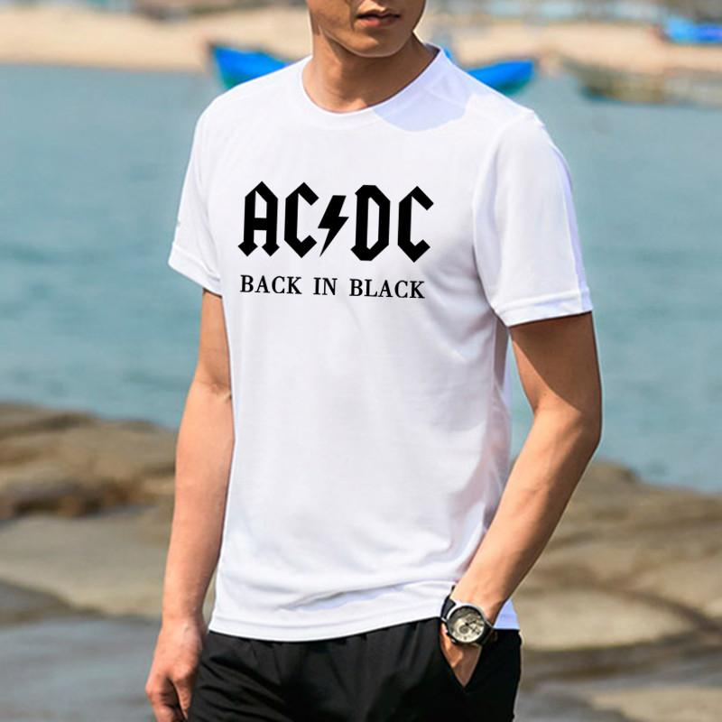 HR Stadium Tee White Source · New Camisetas Ac Dc Band Rock T Shirt Mens  Acdc Graphic T Shirts 9efb701dd0148