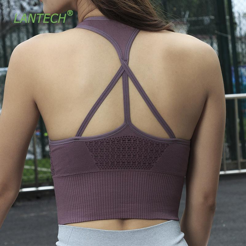 93a066c544d 2019 LANTECH Yoga Bra Sportswear Joggings Running Top With Pads Training  Crop Vest Women Fitness Gym Sports Bra Energy Seamless From Marchnice