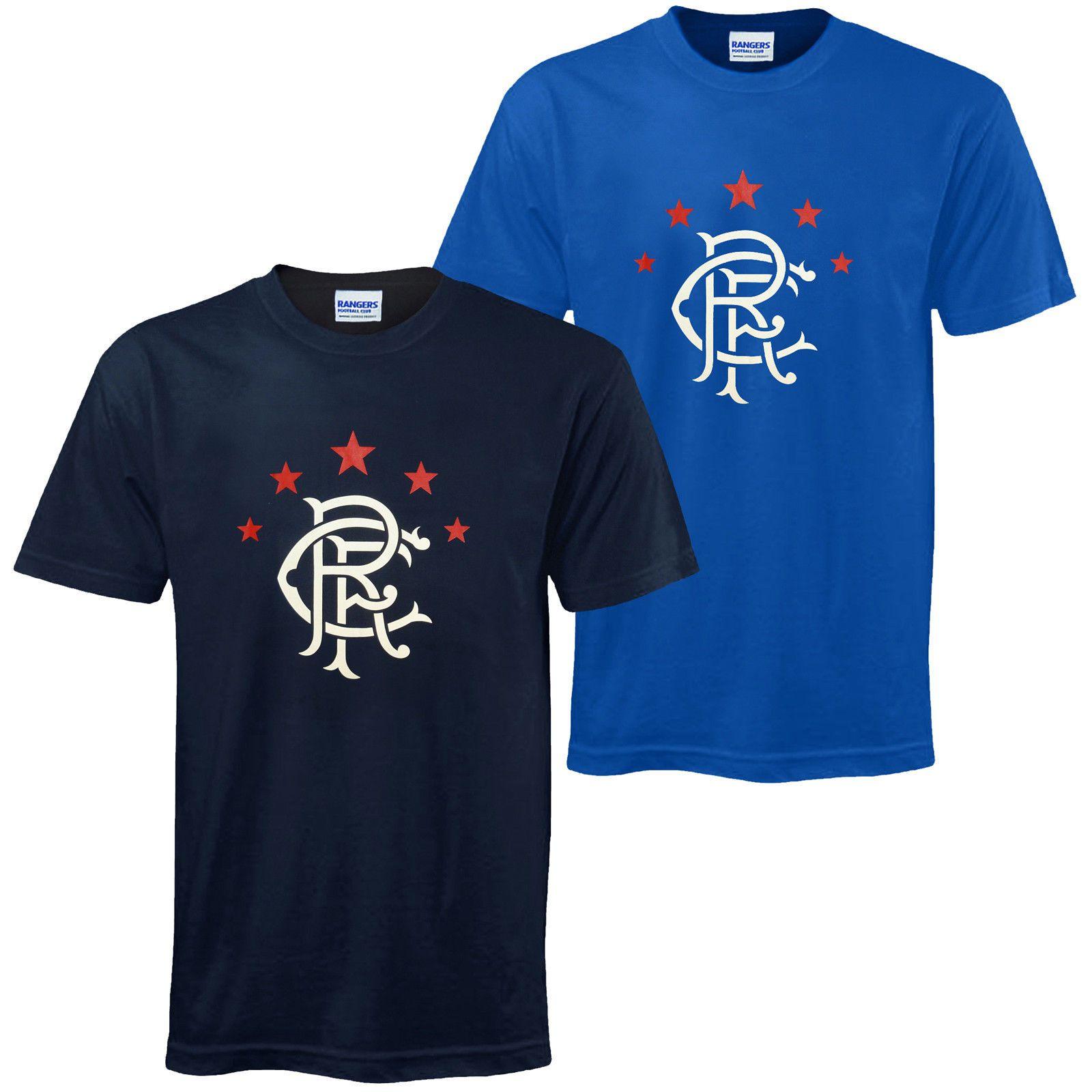 223009f0c29 Rangers FC Official Football Gift Mens Crest T Shirt Funny Unisex ...