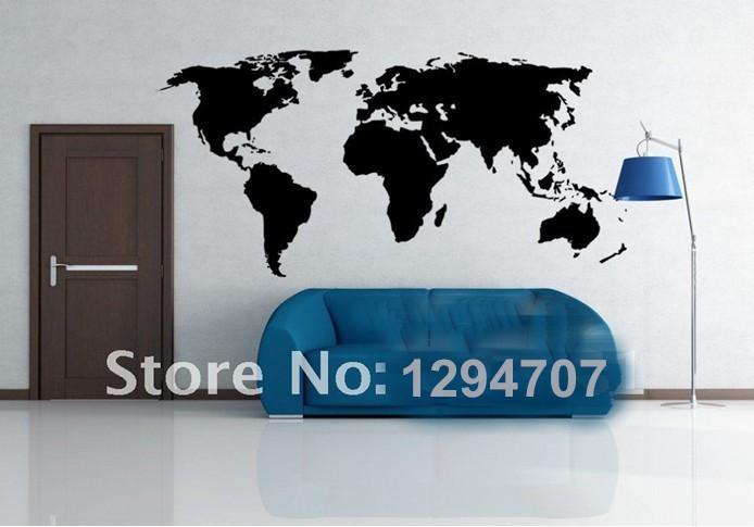 1 ADET 200x90 cm En Çok Satan Büyük Küresel Dünya Haritası Vinil Duvar Sticker Ev dekor duvar kağıdı Yaratıcı Duvar Çıkartmaları CCR1103