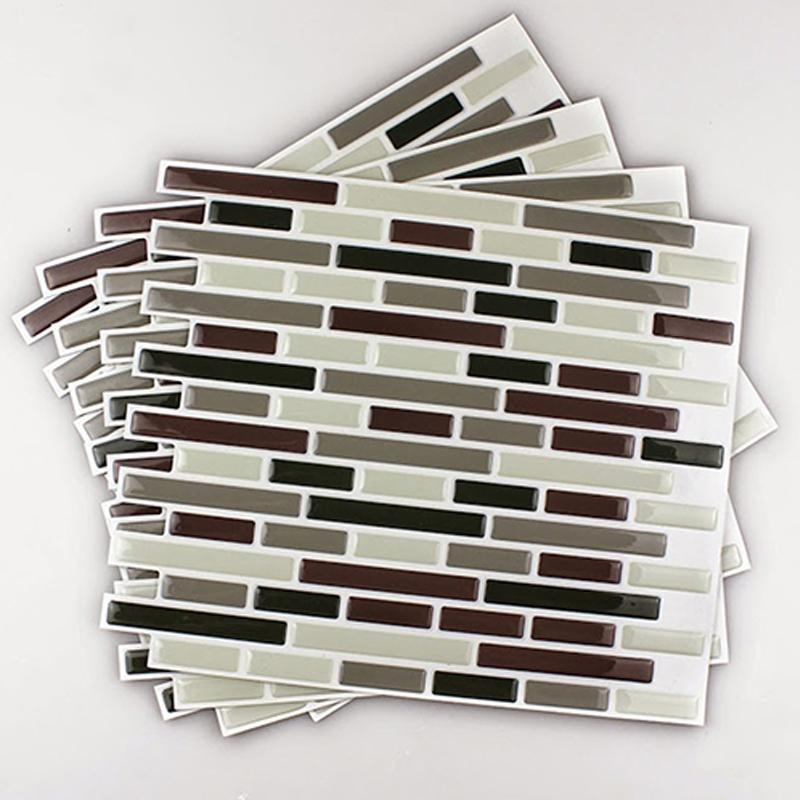 Home Decor 3d Tile Pattern Kitchen Backsplash Stickers Mural Wall ...
