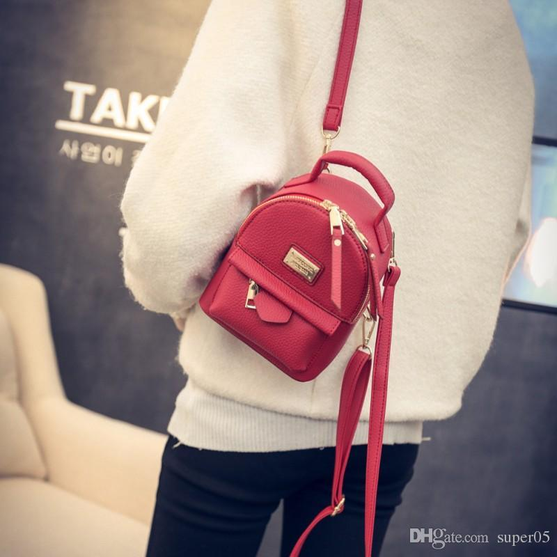 387601e767 LEFTSIDE 2018 Mini Backpacks For Girls Back Bag Women PU Leather Small  Pretty Shoulder Bag Feminine Backpack Bolsas Femininas Leather Backpacks  One Strap ...