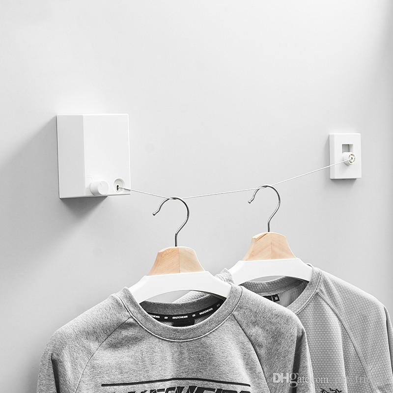 Retractable Indoor White Coat Hooks Wall Mounted ABS Plastic Robe Hook White Indoor Coat Hooks Retractable Robe Hook Wall Mounted White Clothes Hook Online ... & Retractable Indoor White Coat Hooks Wall Mounted ABS Plastic Robe ...
