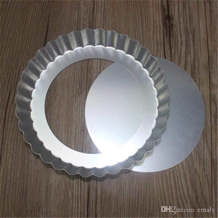 Pierres de pizza d'alliage d'aluminium de disque de pizza de fond de poêle à pizza antiadhésive ronde de 6 pouces