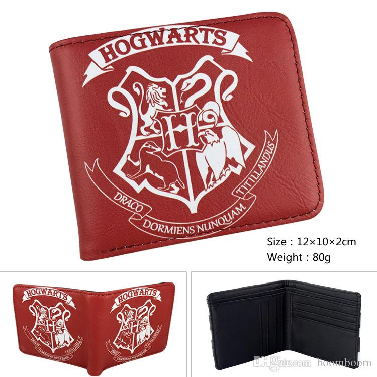 5 colors Game ForHarry Potter Wallets With Zipper Pocket Purse Men Wallet Coin Bag Credit Card Holder Hogwarts Badge Designer Wallet