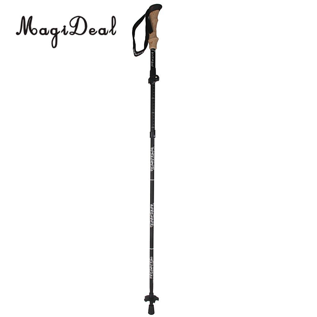 MagiDeal Black Outdoor Trekking Walking Hiking Sticks Poles Alpenstock  Adjustable - Short for Climbing Camping Travell Access
