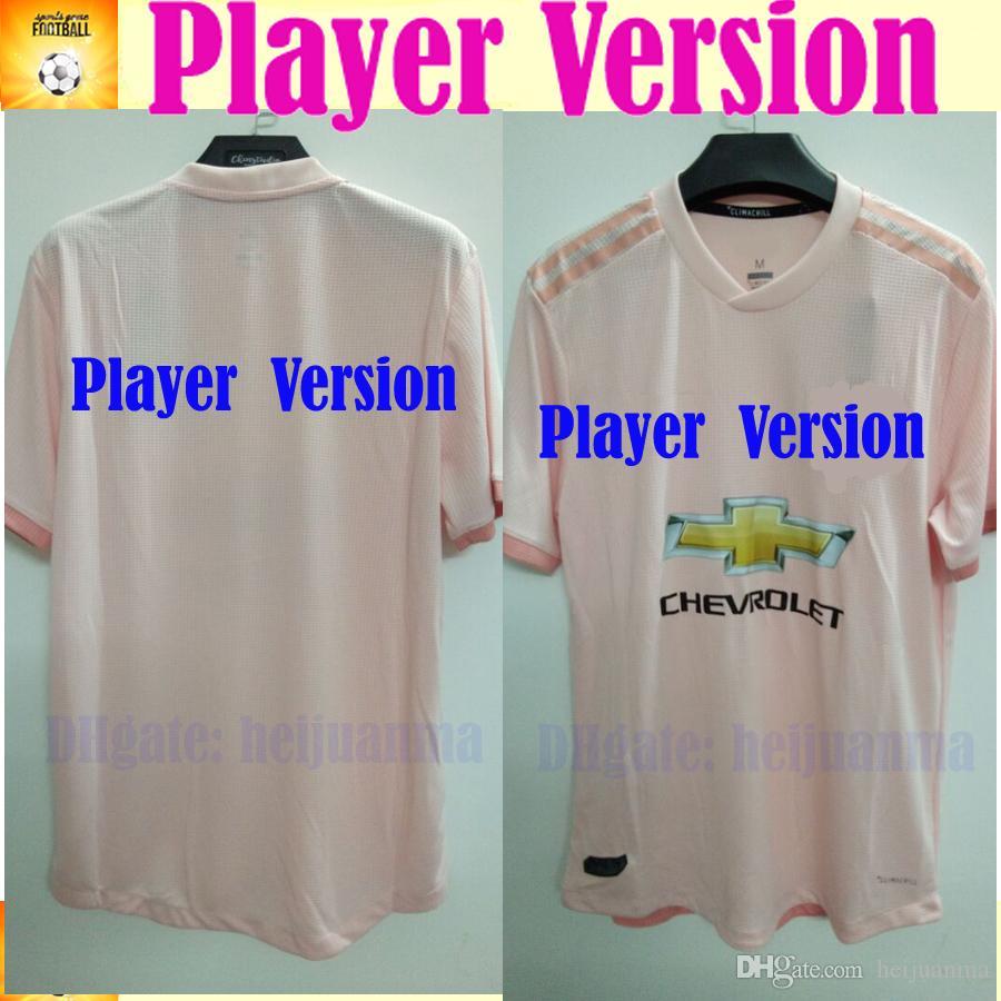 a7c853287 2019 Player Version LUKAKU MANCHESTER Away Pink UNITED Soccer Jersey 18 19  Soccer Shirt ALEXIS RASHFORD LINGARD Football Uniforms UK 2019 From  Heijuanma