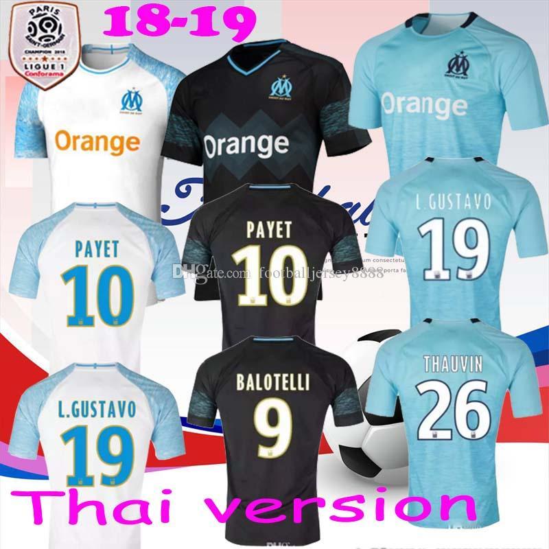2018 19 Olympique Marseille Black Thailand Soccer Jacket