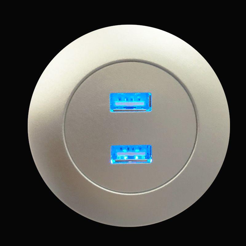 Meubles Partie Ascenseurs Lit panneau AC DC Adaptateur USB 5V2A sortie Chargeur USB Dual Power Round Alimentation Accessoires Recliner gros Fabriqué en Chine