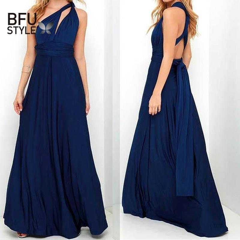 Sexy Long Dress Bridesmaid Formal Multi Way Wrap Convertible Infinity Maxi  Dress Navy Blue Hollow Out Party Bandage Vestidos Red Evening Dress  Dressess From ... a47d7584e20e