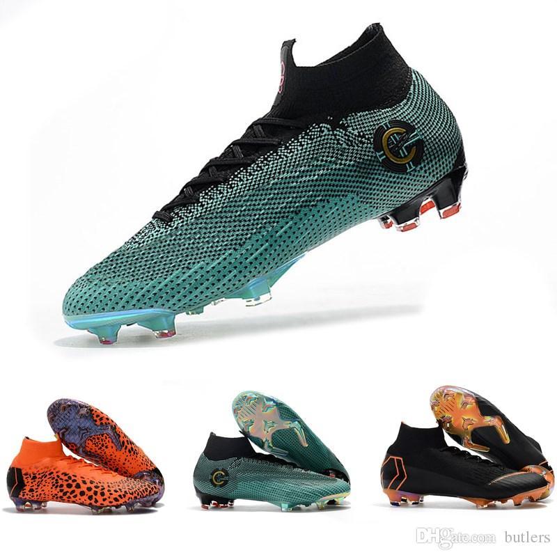c68637e9574c5 Botas De Fútbol Baratas Para Hombres Niños Mercurial Superfly VI 360 Elite  FG Zapatos De Fútbol Botas Envío Gratis Mujeres Jóvenes Al Aire Libre Calas  De ...