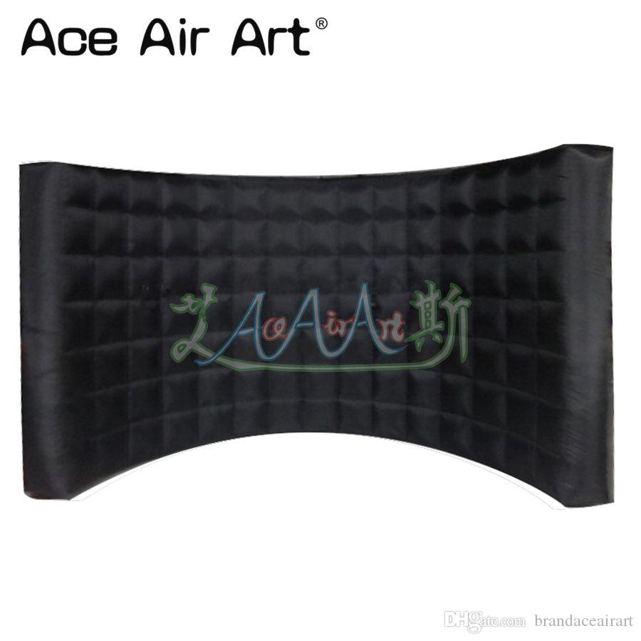 Dj Booth For Sale >> Totally Black Wall Inflatable Curved Photo Backdrop Dj Booth Wall Room Partition Wall Without Lights For Sale