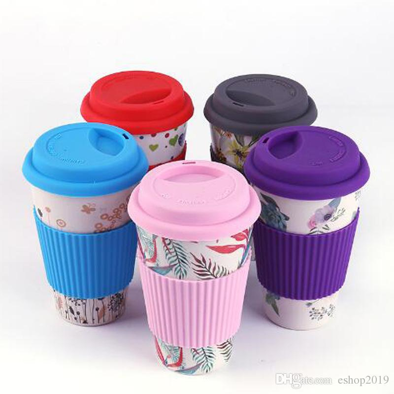 Novelty Bamboo Fiber Powder Mugs Coffee Cups Milk Drinking Cup Travel Gift Eco Friendly Free Shipping
