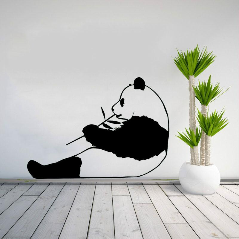 Panda Wall Art Vinyl Quote Wall Decal Sticker Kids Room Art Decoration Home Decor Mural
