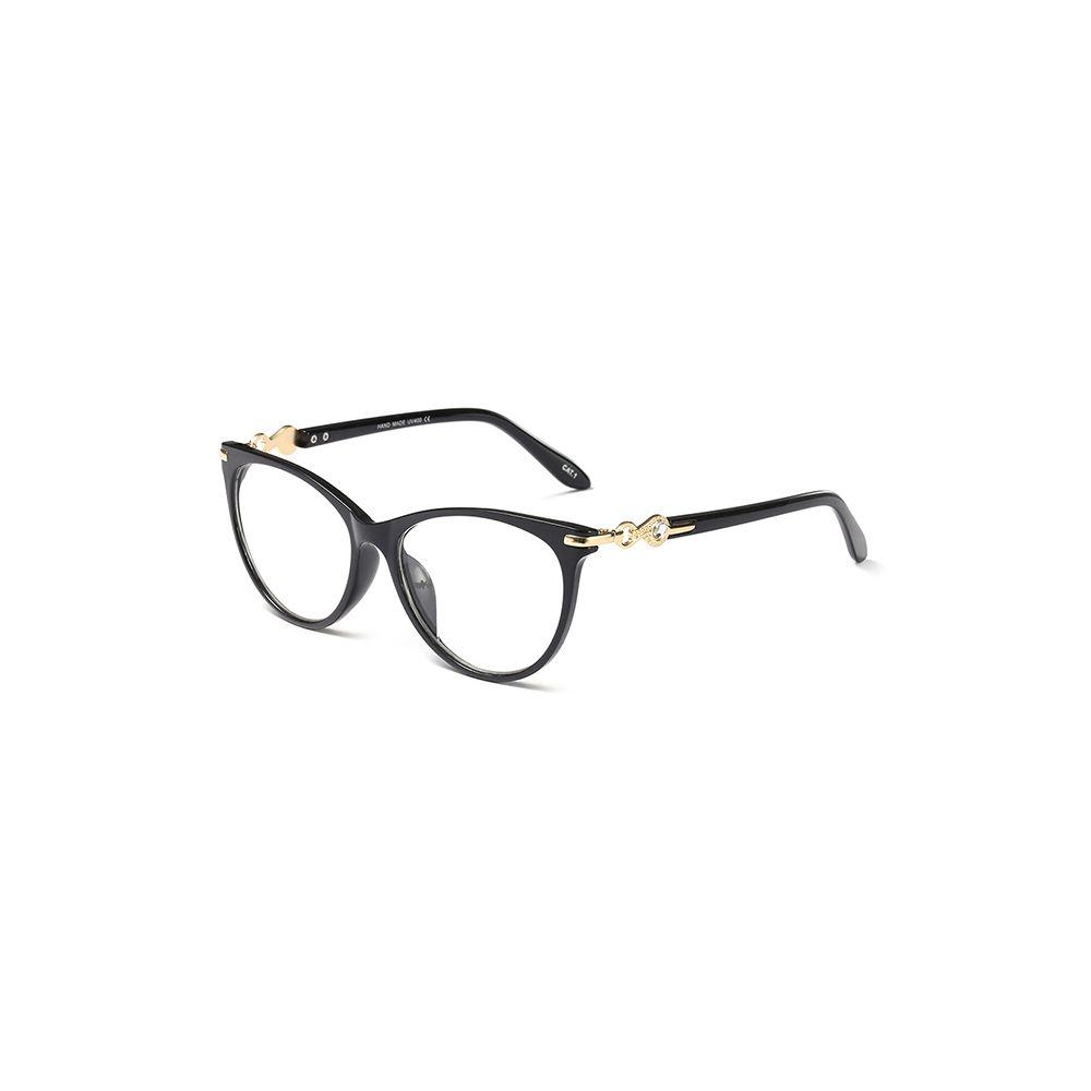 629c8079f4 Compre Luz Mujer Ojos Marcos De Plástico Moda Negro Claro Lentes Diseño De  Moda Transparente Gafas Ópticas Marco 97544 FDY A $25.51 Del Marquesechriss  ...