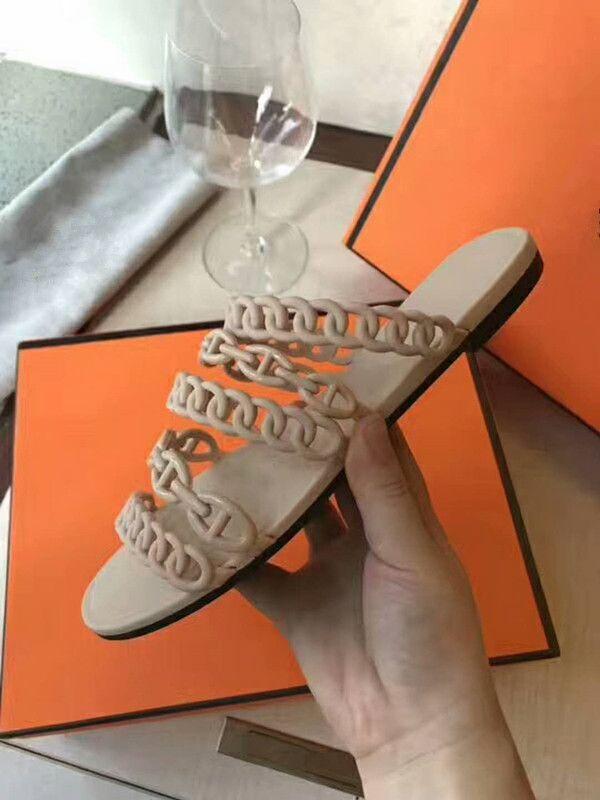 2018 New Appival cuero genuino de alta calidad cómodo y transpirable Slip-On mujer sandalias casual de tacón bajo negro naranja y beige