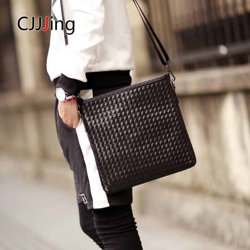 1d47d4186ec9 Men Business Office Handbags Knitting Style Messenger Bags Casual Single  Shoulder Bag Men S Travel Bag Crossbody Bags CJJJing Leather Tote Leather  Tote Bags ...