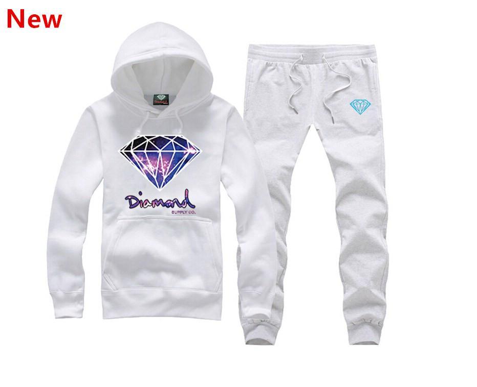 9ecc4a895579 New Diamond Supply Sweat Suit Autumn Sportswear Sport Men Clothes ...